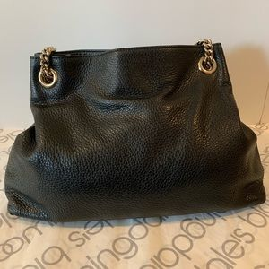 Gucci Bags - Gucci Soho Camelia Black Pebbled Hobo Shoulder Bag